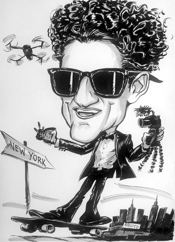 Casey Neistat caricature