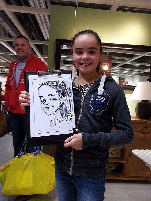 corporate caricaturist at IKEA