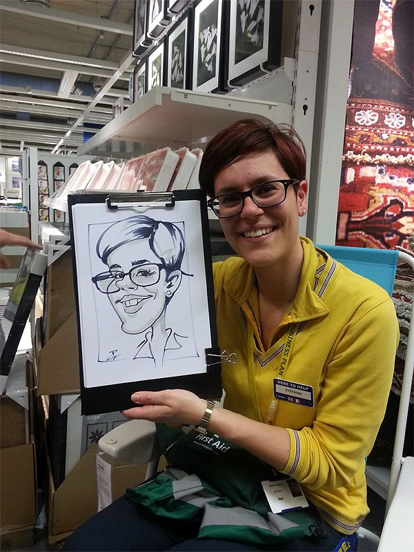 corporate caricatures at IKEA