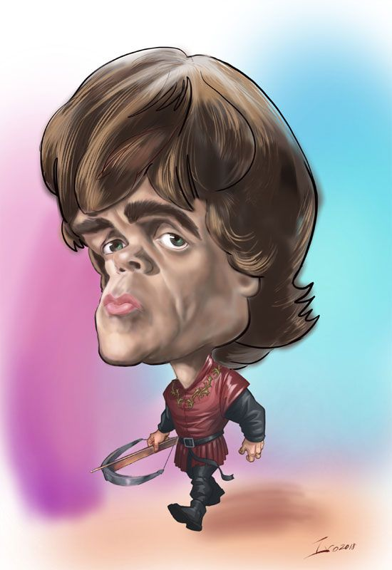 Tyrian from Game of Thrones Digital caricature on iPad