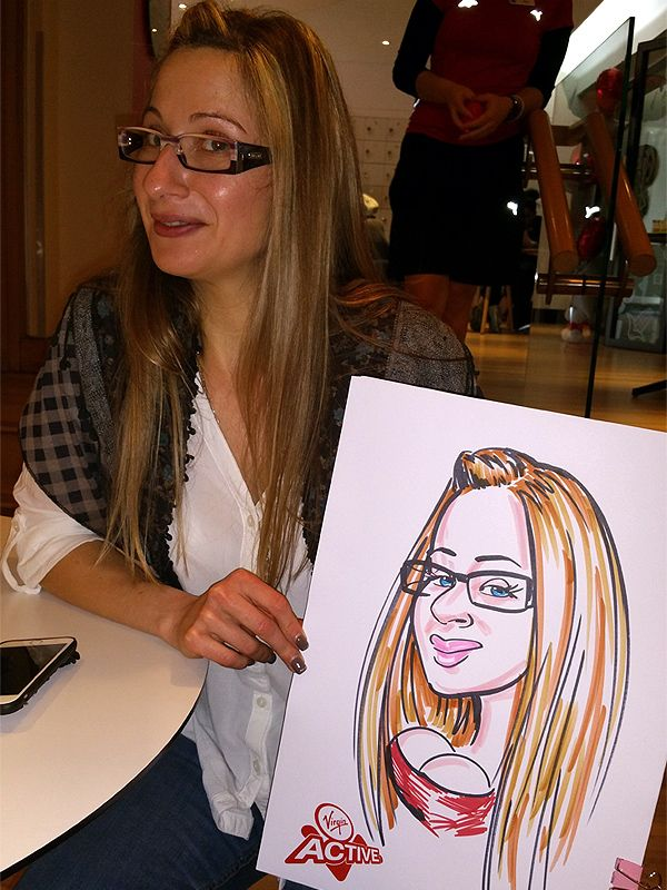 corporate caricatures at Virgin Active