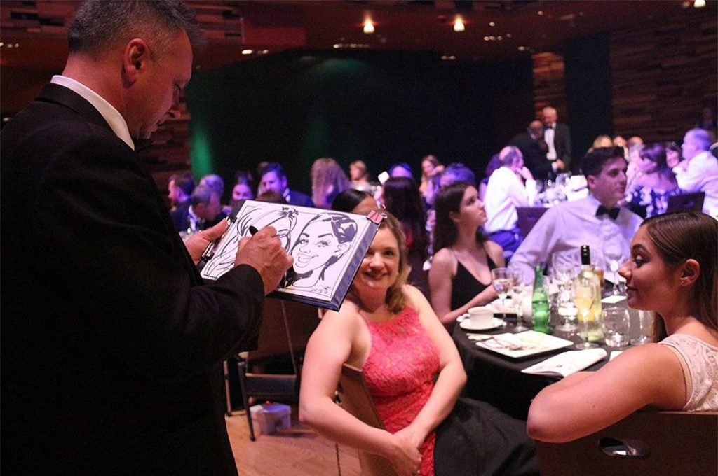 award ceremony caricatures