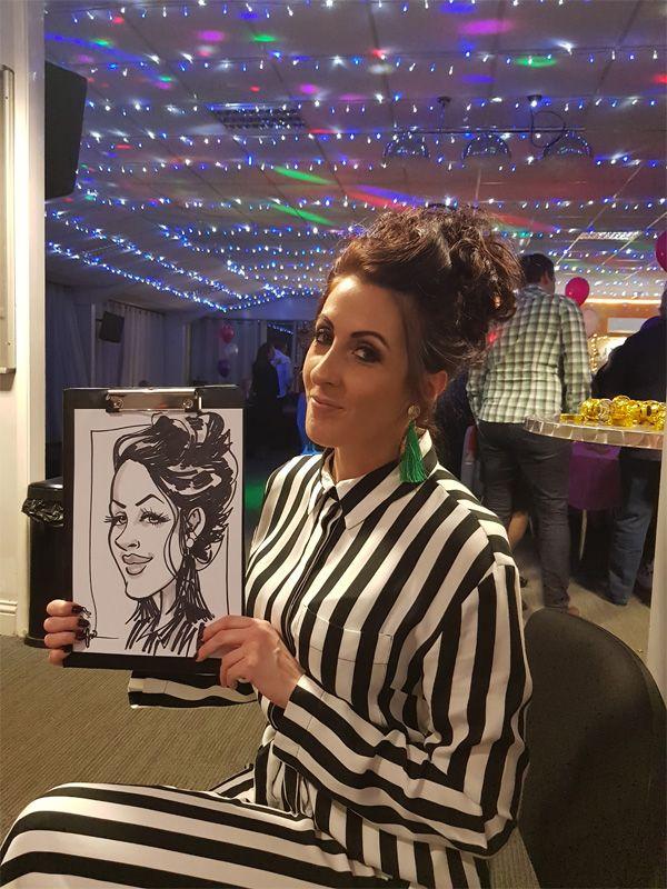 birthday caricatures artist