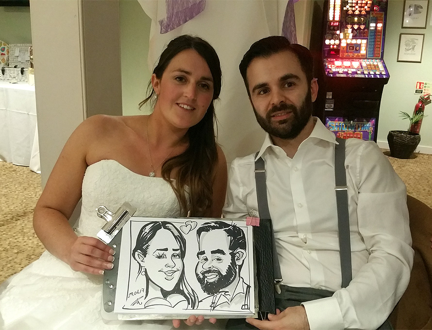 Caricature of the bride & groom 2