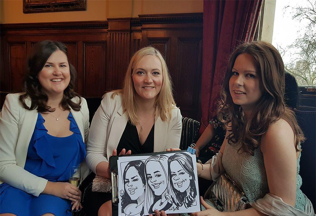 Caricature of 3 ladies