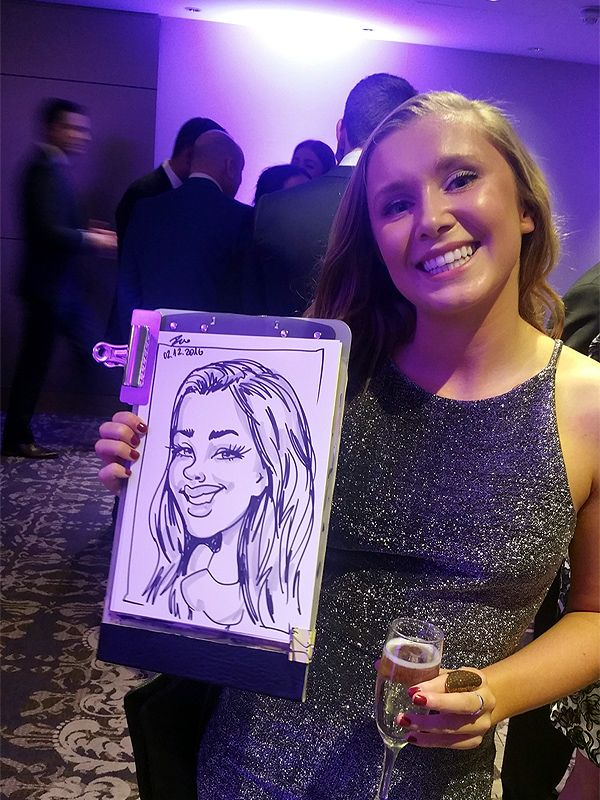 Christmas corporate event caricature