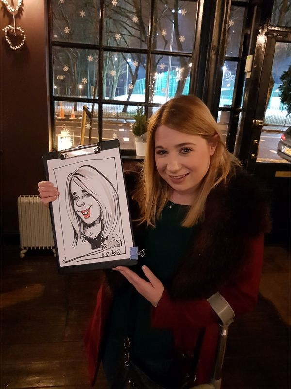 Christmas corporate caricatures