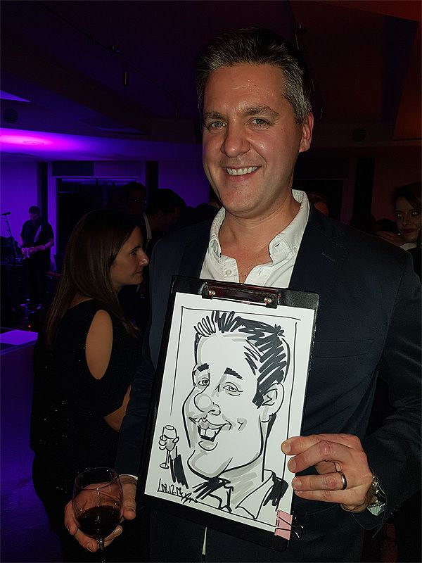 corporate Christmas party caricature artist