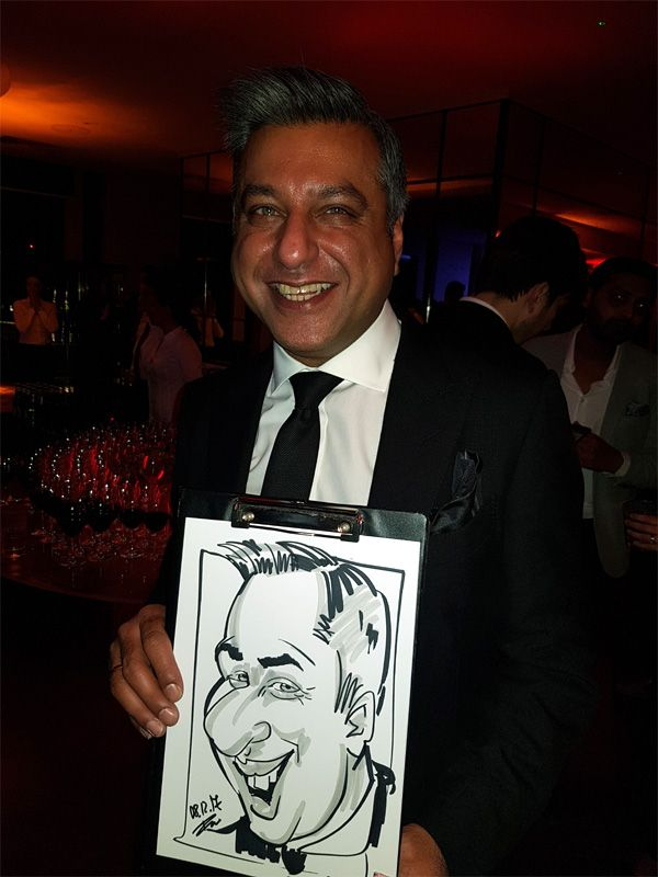 Christmas party caricaturist