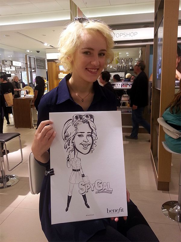 corporate caricatures at Benefit