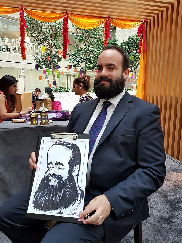 corporate caricature at Coutts Bank