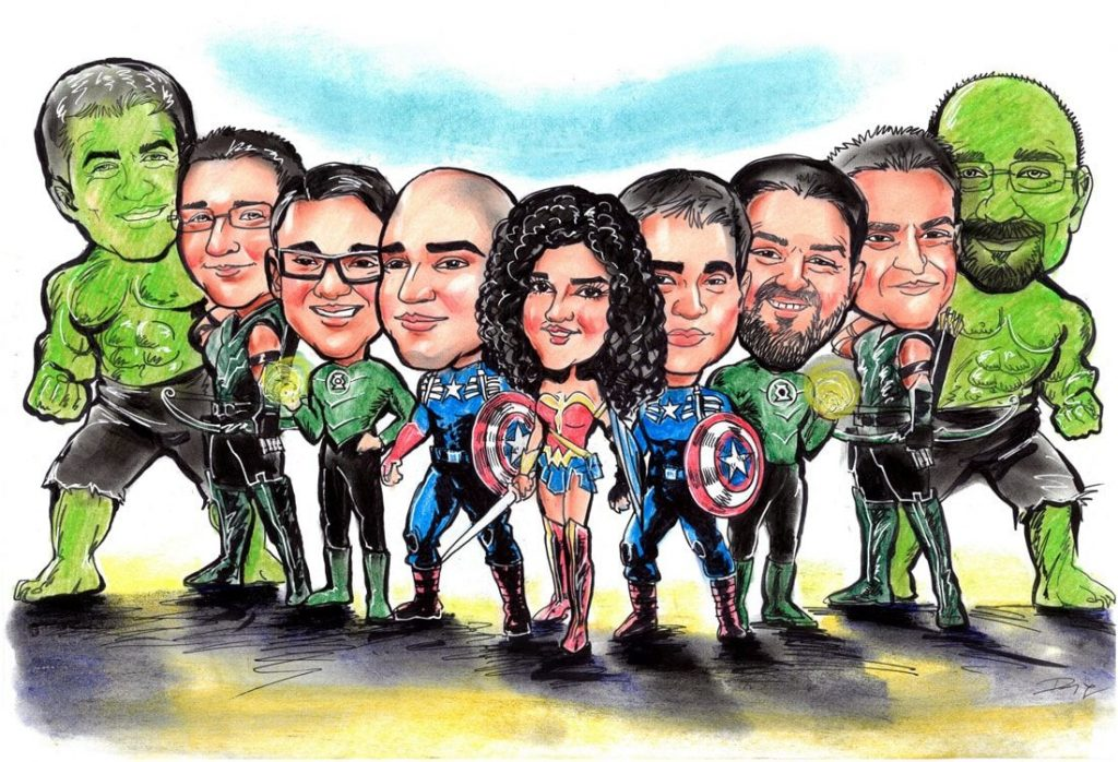 Caricature from photo as a heroes