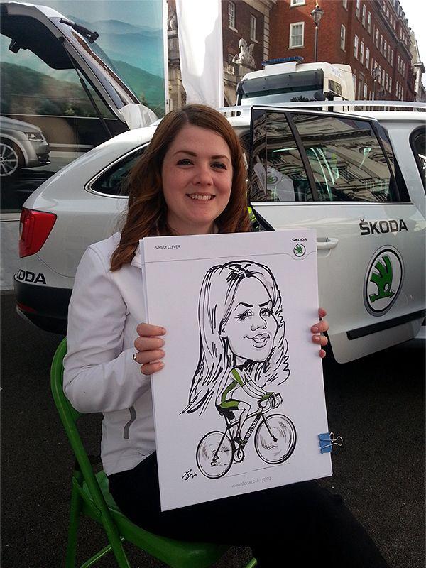 corporate caricatures at SKODA