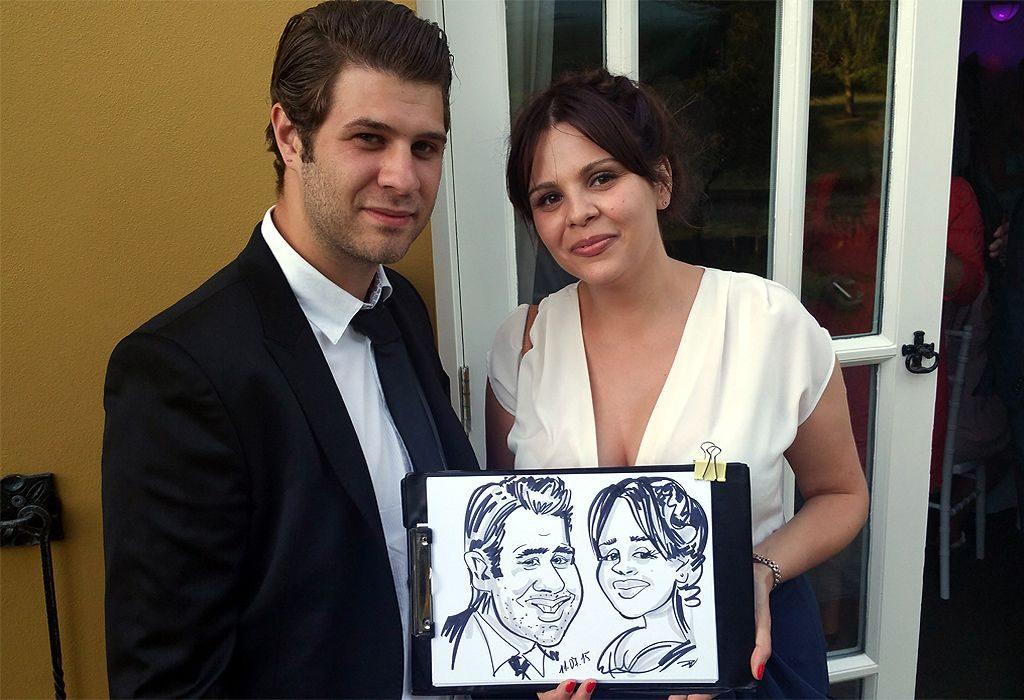 Wedding caricature Kent