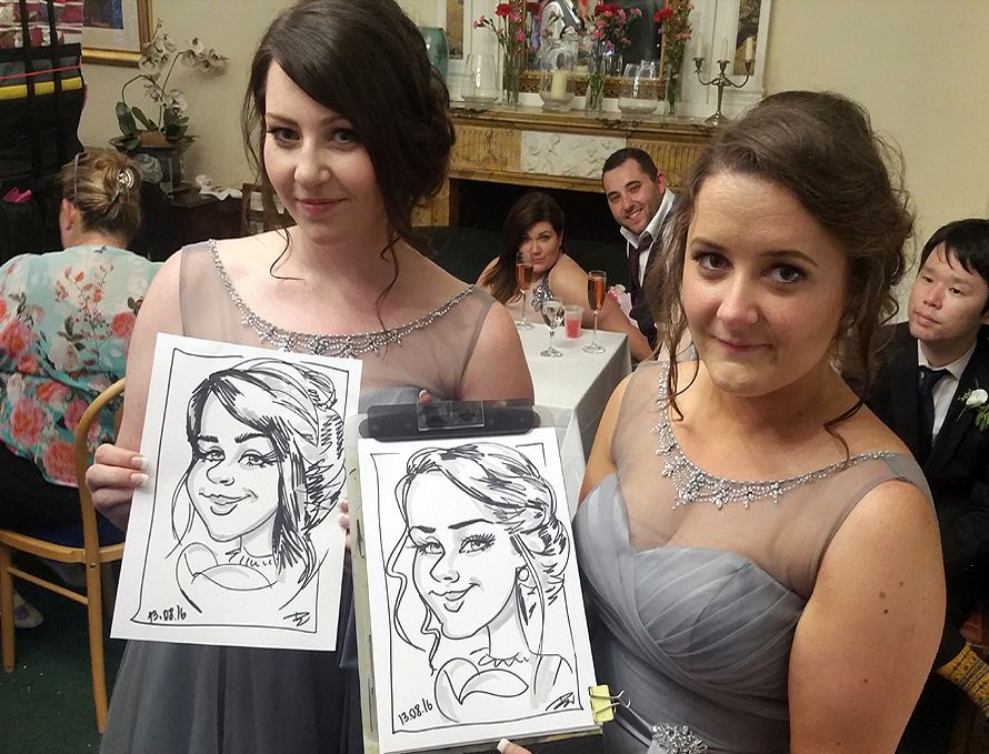 brides maids caricatures