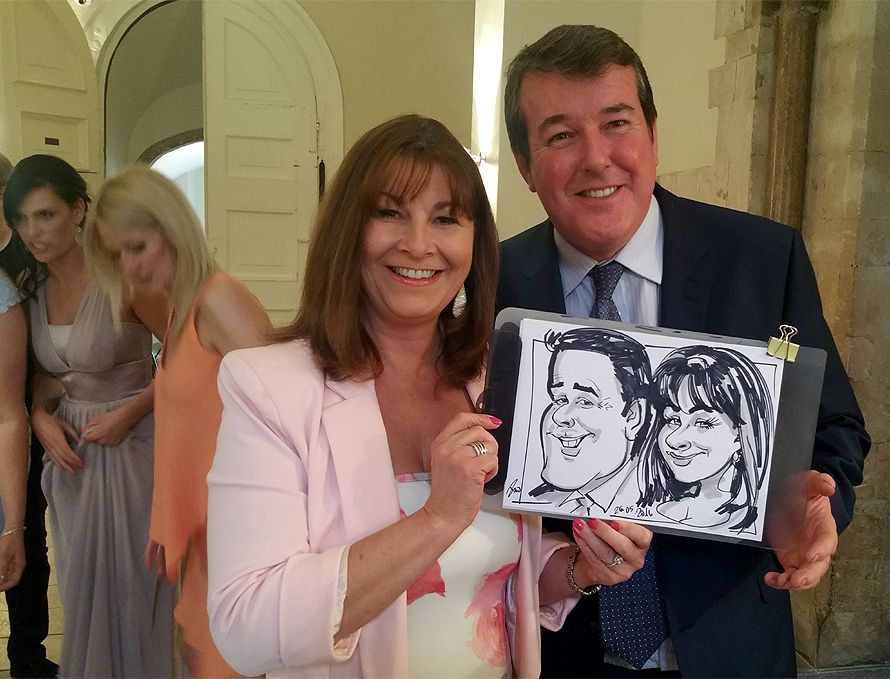 Caricatures on a wedding