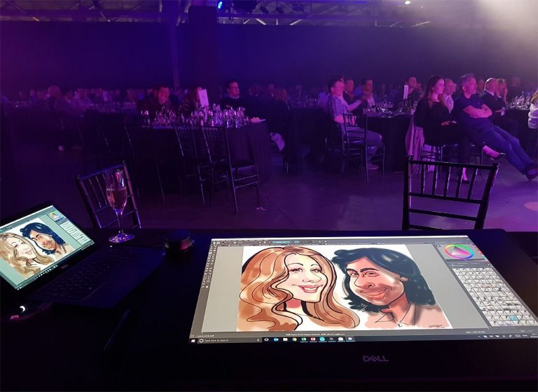 Digital caricatures using Dell Canvas