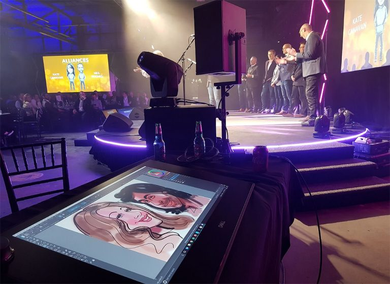 Drawing Digital caricatures on Dell Canvas
