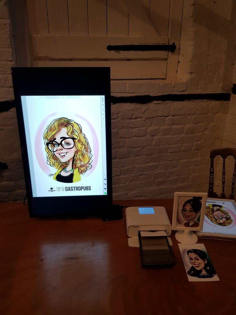 digital caricatures on iPad 5
