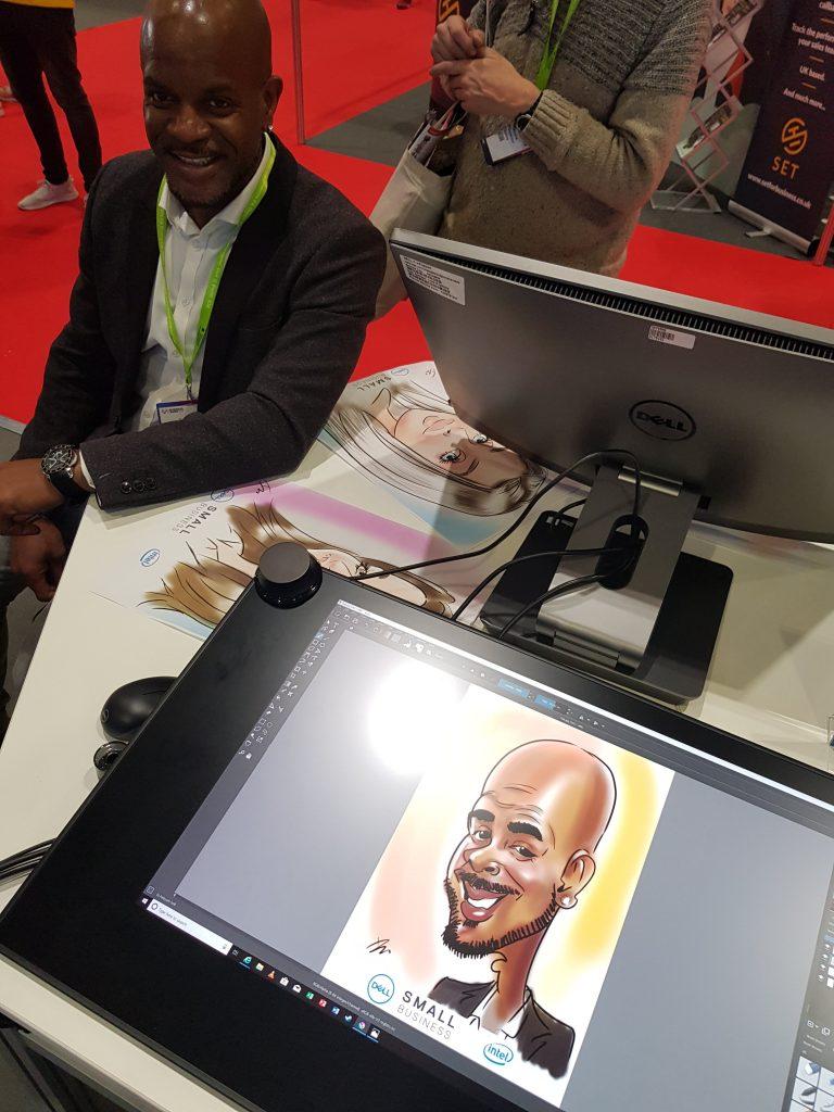 Dell Canvas digital caricatures
