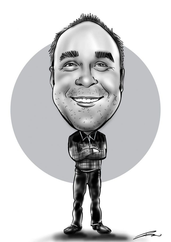 caricature of a men